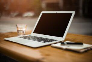 laptop, desk, workspace